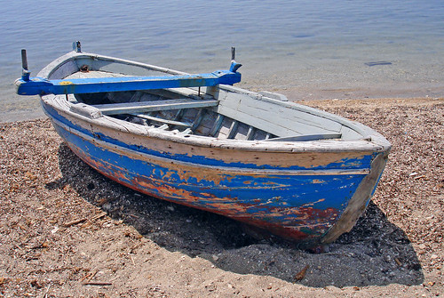 Old boat corfu by ava babili for What to do with an old boat