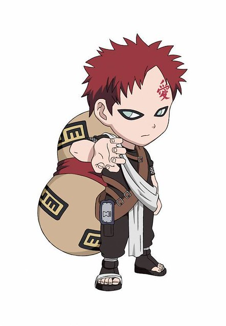 Gaara SD | This is Gaara. His brother is Kankuro and his ... Gaara And Kankuro Brothers