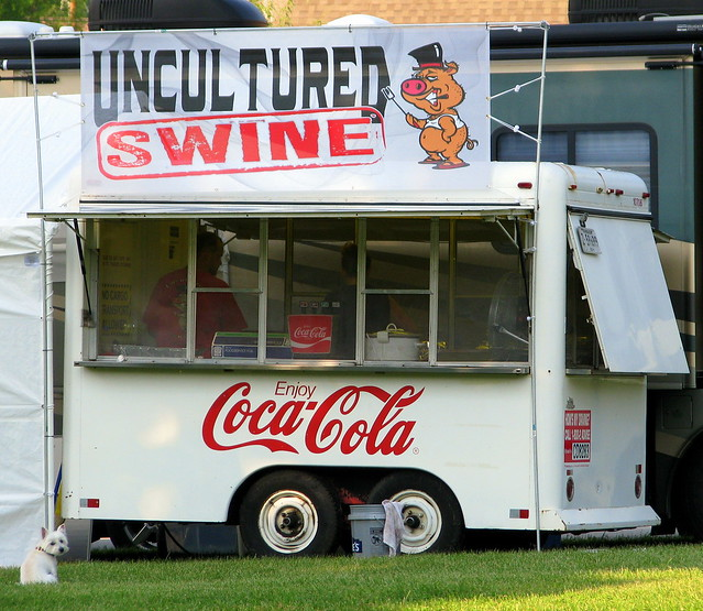 Uncultured Swine | This food vendor was setting up in ...
