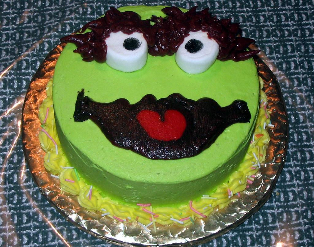 Oscar The Grouch Birthday Cake 6 30 07 A Oscar The
