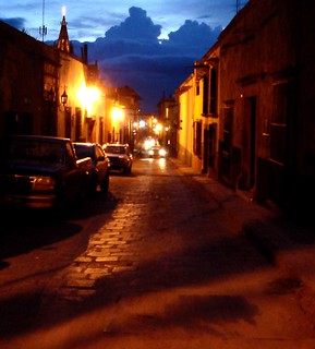 Ghosts cross my path on Calle Correo, San Miguel de Allende | by zocalo2010