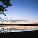 summer solstice sunset over lake harriet