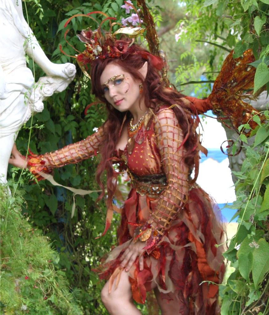 Fire Fairy In Garden Desiree D Flickr