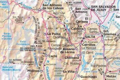 Mapa Parcial De La Província De Salta República Argentina Flickr - Argentina map salta