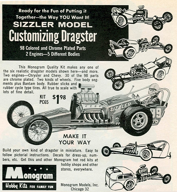 Old Monogram Model Car Kits