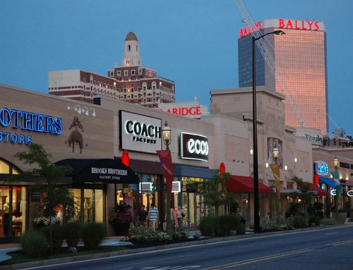 Atlantic City's Tanger Outlets–The Walk, features a collection of more than retail outlets like Nike, Hilfiger, Chico's, H&M and DKNY, to name a few; The Playground is a shopping and entertainment complex that includes exclusive retail shops such as Tommy Bahama, Apple and Swarovski.