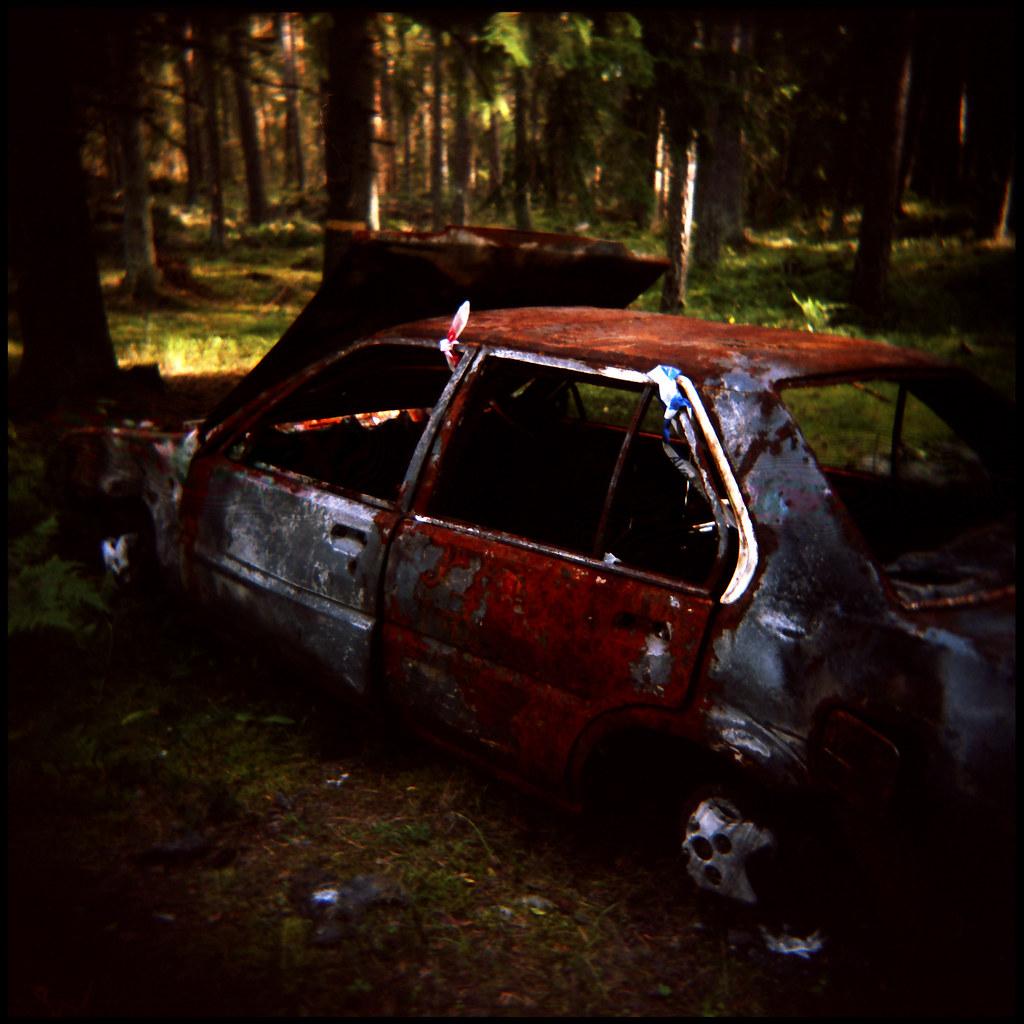 I  Car Fire Near Lowell Feb