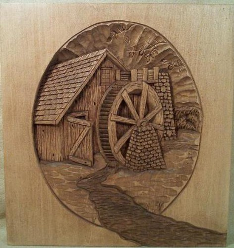 This relief carving of a mill is an example what can be