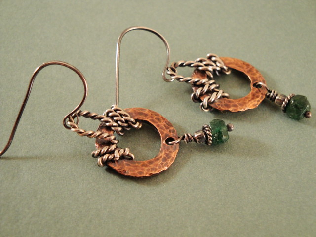 Western Style Earrings Copper And Sterling Silver Twisted Flickr