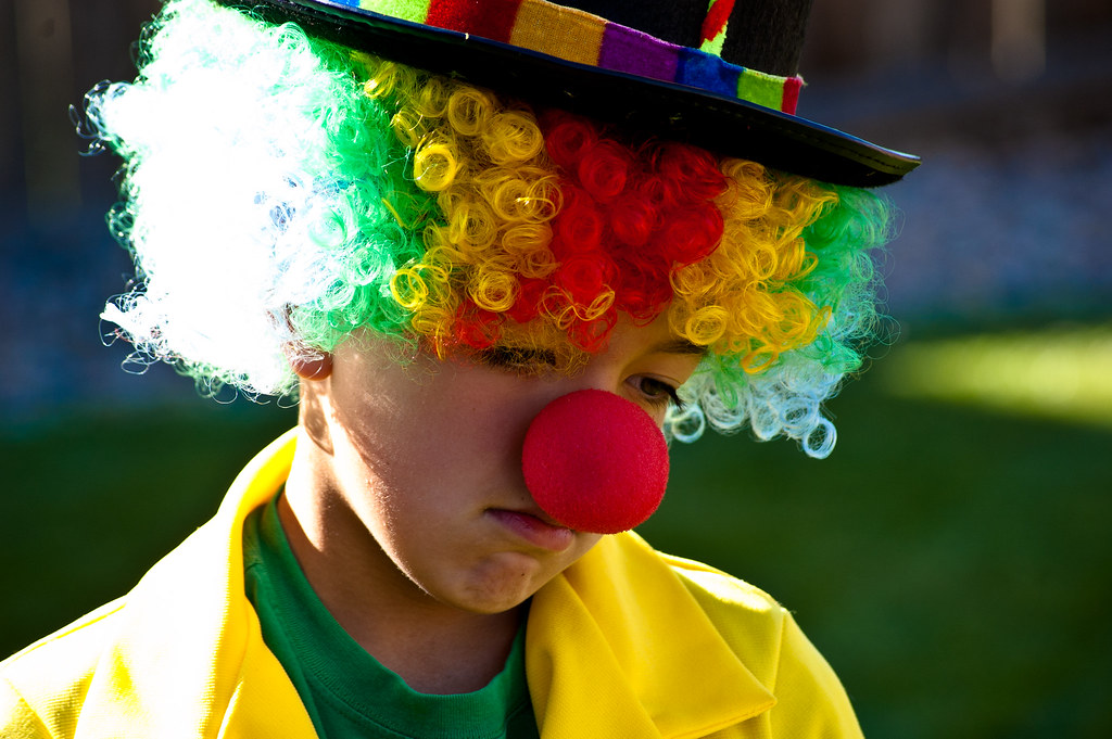 Lonely And Depressed >> Sad Clown | My son dressed up like a clown for a Halloween P… | Flickr