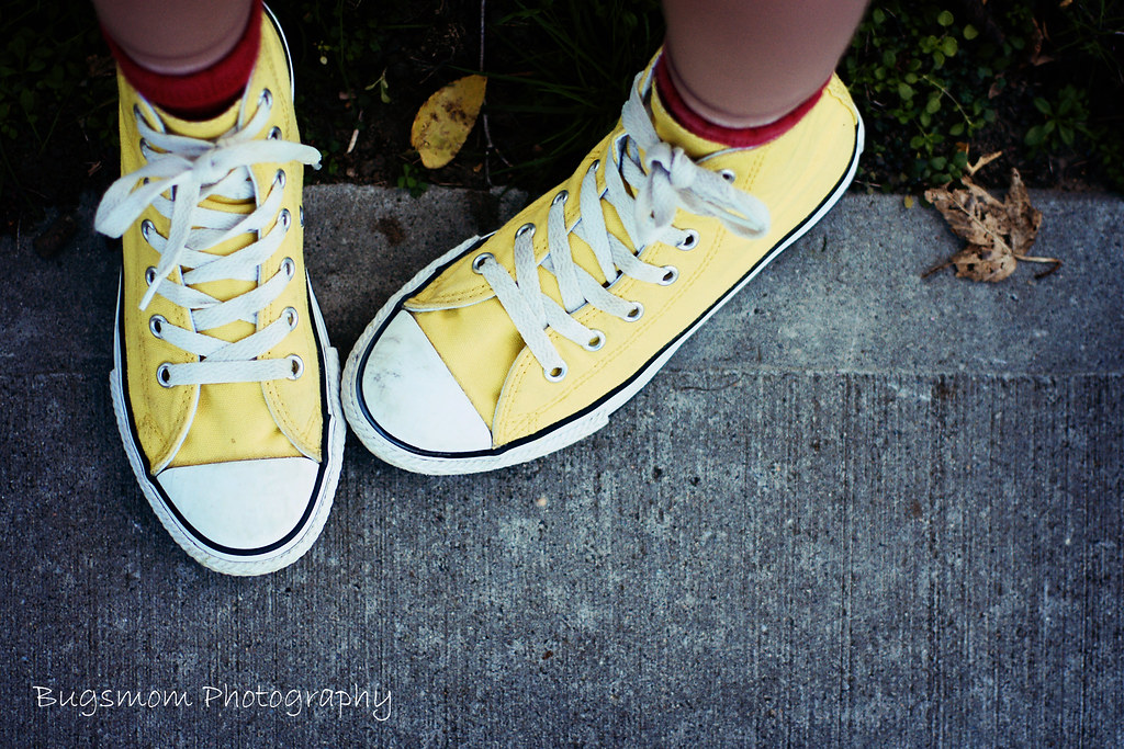 yellow high top converse thebugsmommy flickr