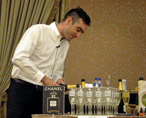 Tony Conigliaro, preparing the Champagne No. 5 Cocktail | by SazeracLA