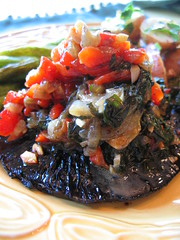 grilled_portobello with wilted_chard and red_bell_pepper | by tofu666