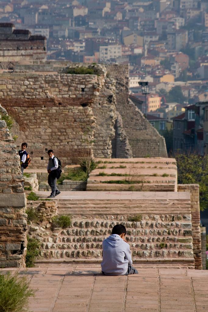 Left behind, Walls of Theodosius, Edirnekapı, Istanbul ...