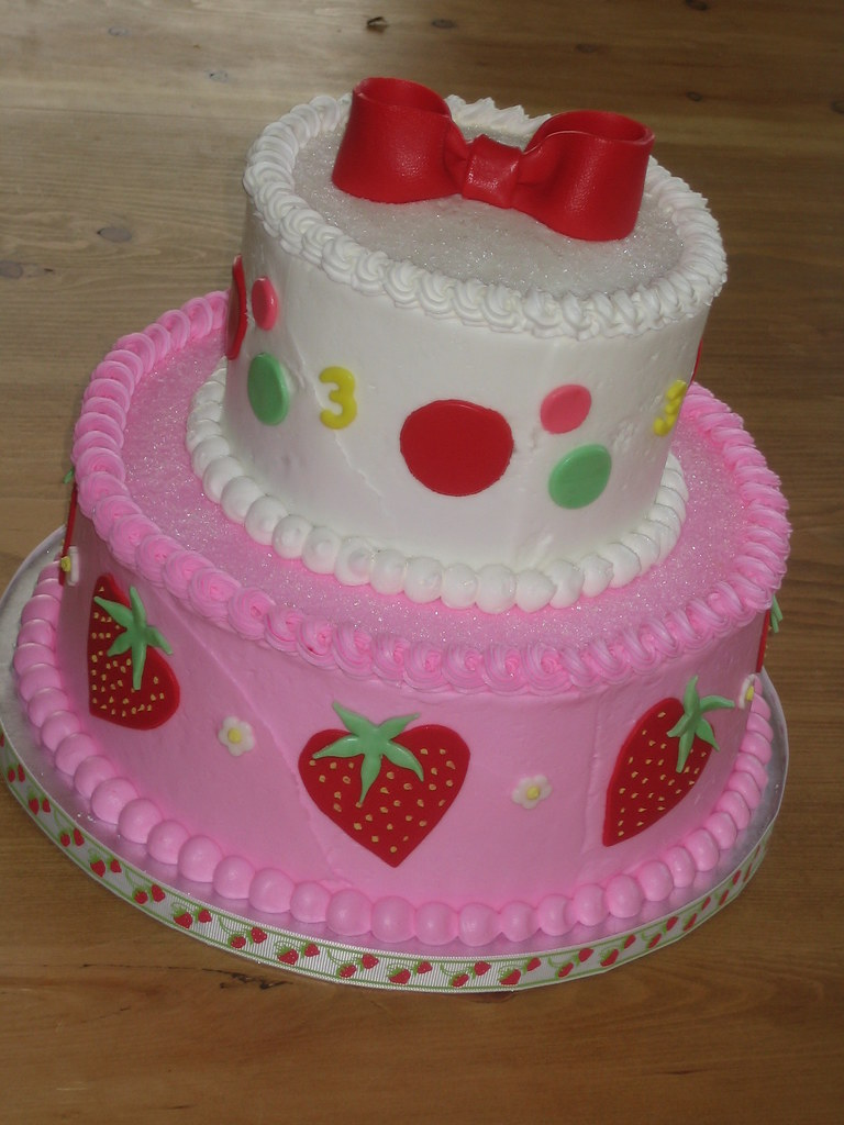 Strawberry Shortcake Birthday Cake Decorations