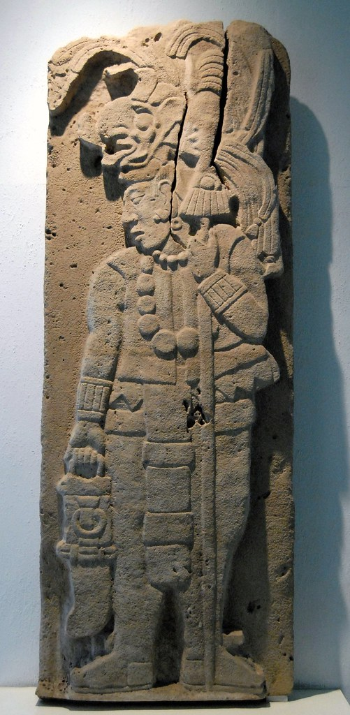 Maya warrior this stone carving depicts an ancient