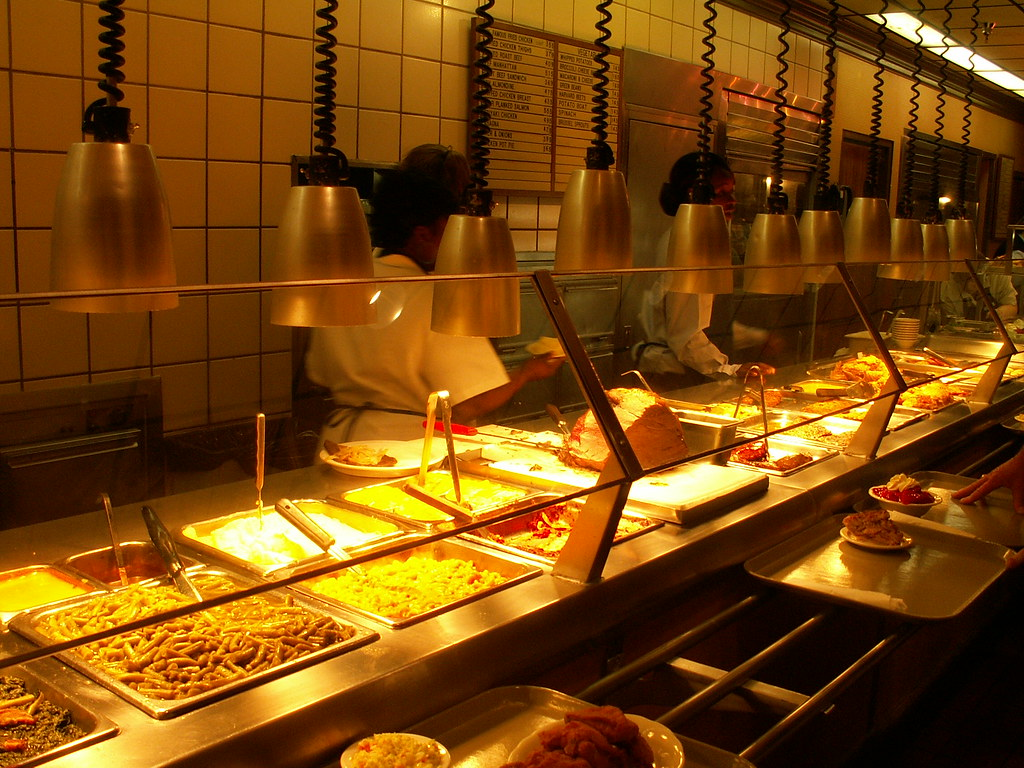 Cafeteria Food Pans ~ Food line even though mcl is a cafeteria the