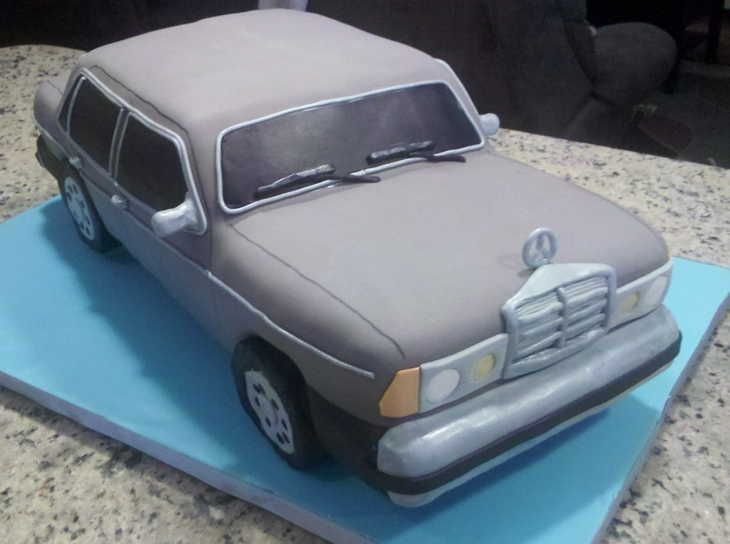 1984 Mercedes Car Cake Front Made For A Grandfather