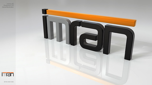 Imran Logo 3d A 3d Typography Of My Name Imran Used
