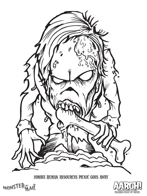 free scary monster coloring pages - photo#21