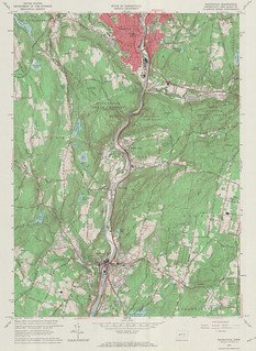 Naugatuck Quadrangle 1964 - USGS Topographic Map 1:24,000 | by uconnlibrariesmagic