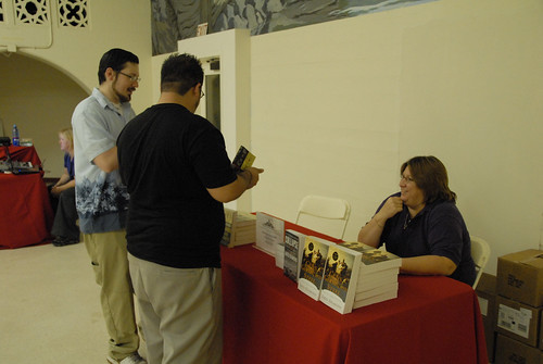 Students picking up their copies of the 2007 Campus Reading Celebration book Guns, Germs and Steel | by California State University Channel Islands