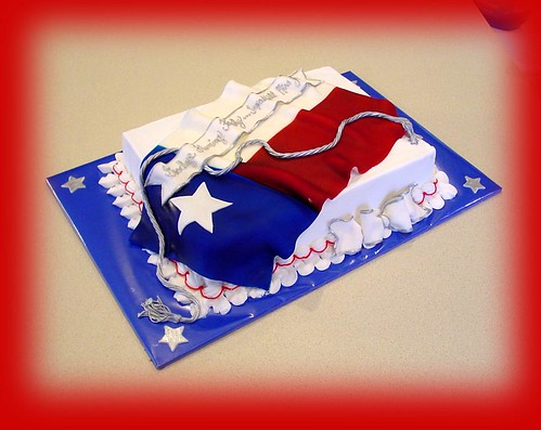 Draped Flag Cake