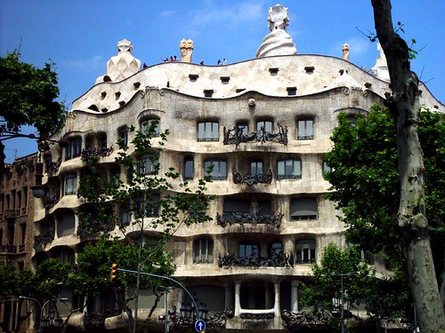 set architekt antoni gaudi barcelona spain spanien