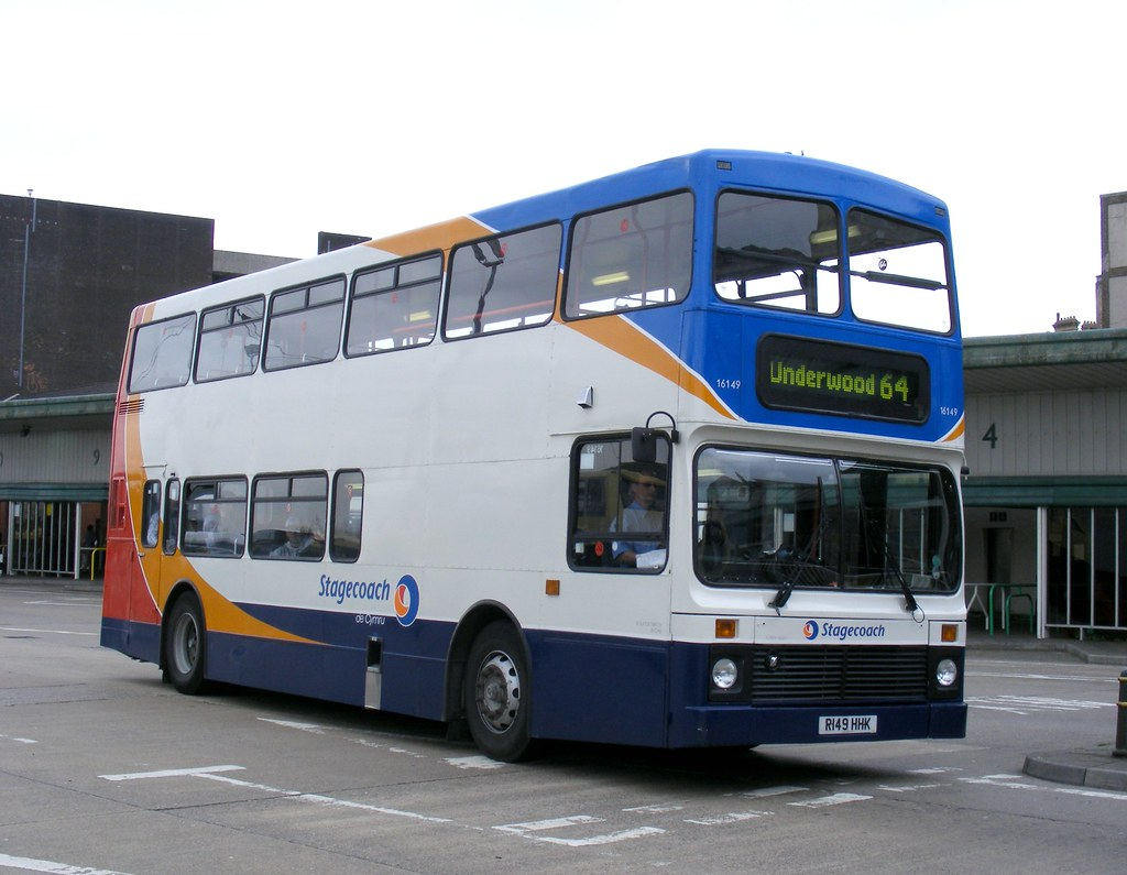 Stagecoach South Wales 16149 R149hhk Newport Bus Stati