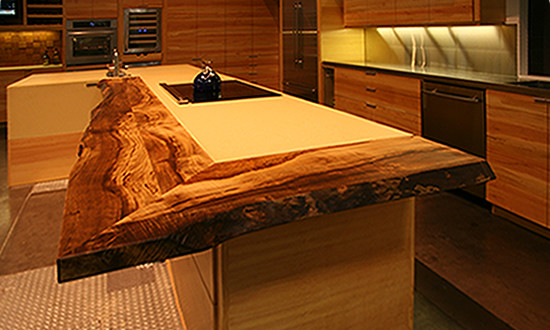 ultimate kitchen live edge countertops of reclaimed myrtle ...