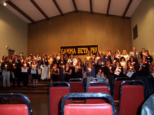 Induction Ceremony for Gamma Beta Phi | by California State University Channel Islands