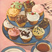 Vintage Cupcake Action