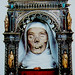 The mummified head of St. Catherine of Siena, Italy