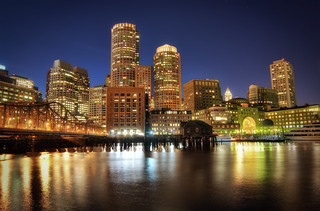 Boston Downtown at Night | by Werner Kunz