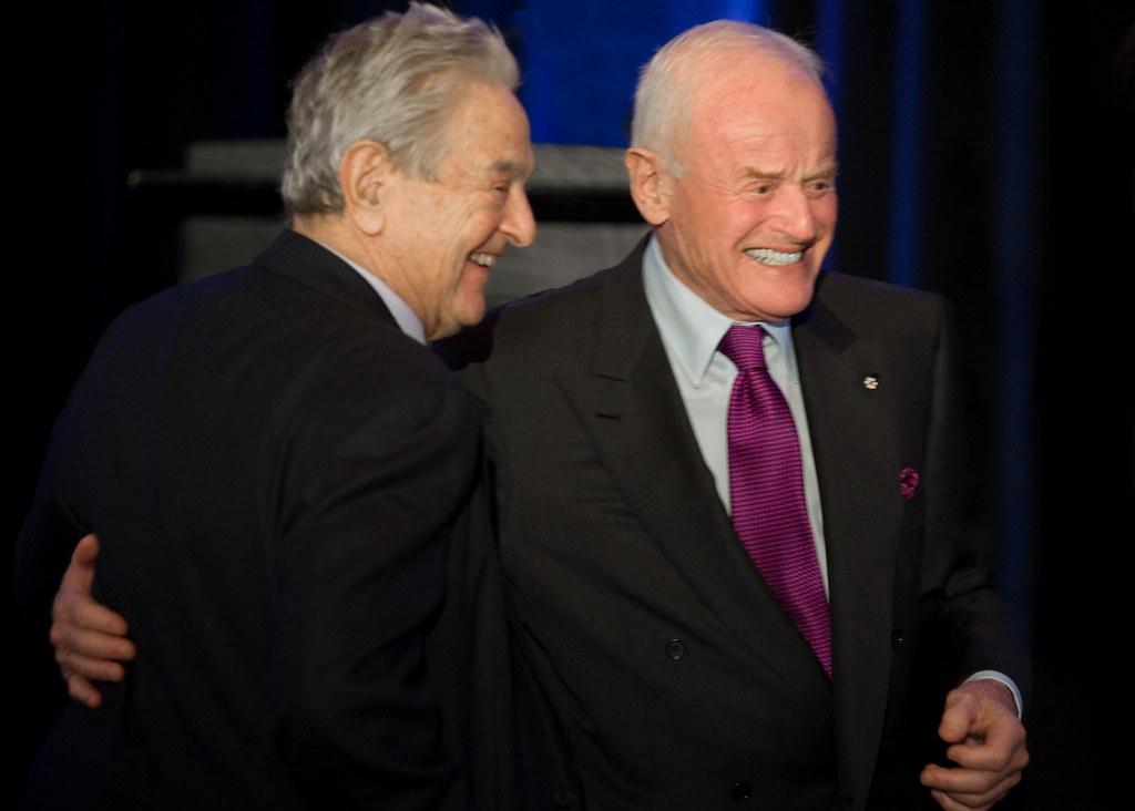 George Soros And Peter Munk Canadian International