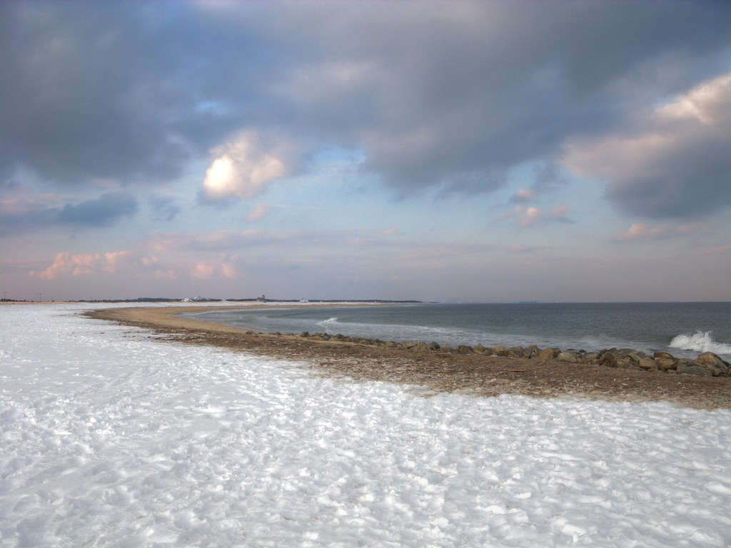 Winter Beach  The Beach At Sandy Hook Nj Even In The -4655