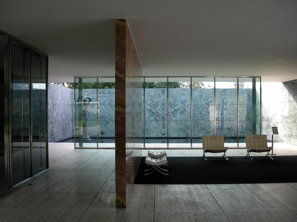 Mies van der rohe pavilion the german pavilion for the for Mies van der rohe barcelona