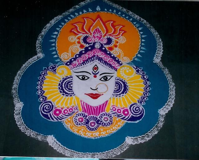 Mata Durga Navratri Rangoli Designs Ideas Pictures for Free Download