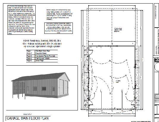 Rv Garage Plans G416 38 X 43 X 14 Detached Shop With 38