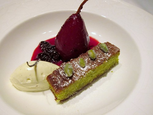 Poached Pear, Pistachio Olive Oil Cake | Flickr - Photo Sharing!