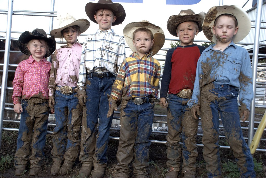 Mutten Busters Rodeo Texas Cowpokes Kids Children Busting