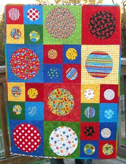 primary circles charity quilt | by vickivictoria