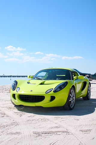 Lotus Elise @ the beach iPhone wallpaper | Flickr - Photo Sharing!