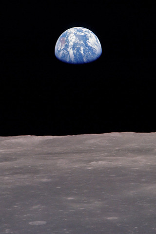 Earth from the moon iPhone wallpaper | Flickr - Photo Sharing!