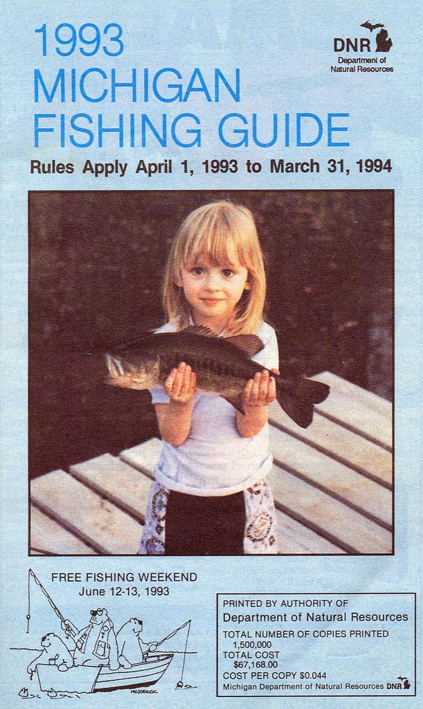 1993 michigan fishing license guide 1993 michigan for Fishing license mi