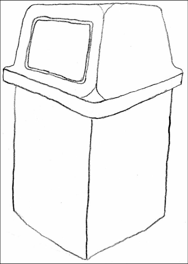 Trash Bin Drawing
