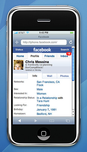 free facebook app for iphone profile on iphone www macrumors iphone 2007 16953
