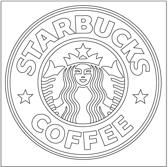 Starbucks Logo Process 2 After