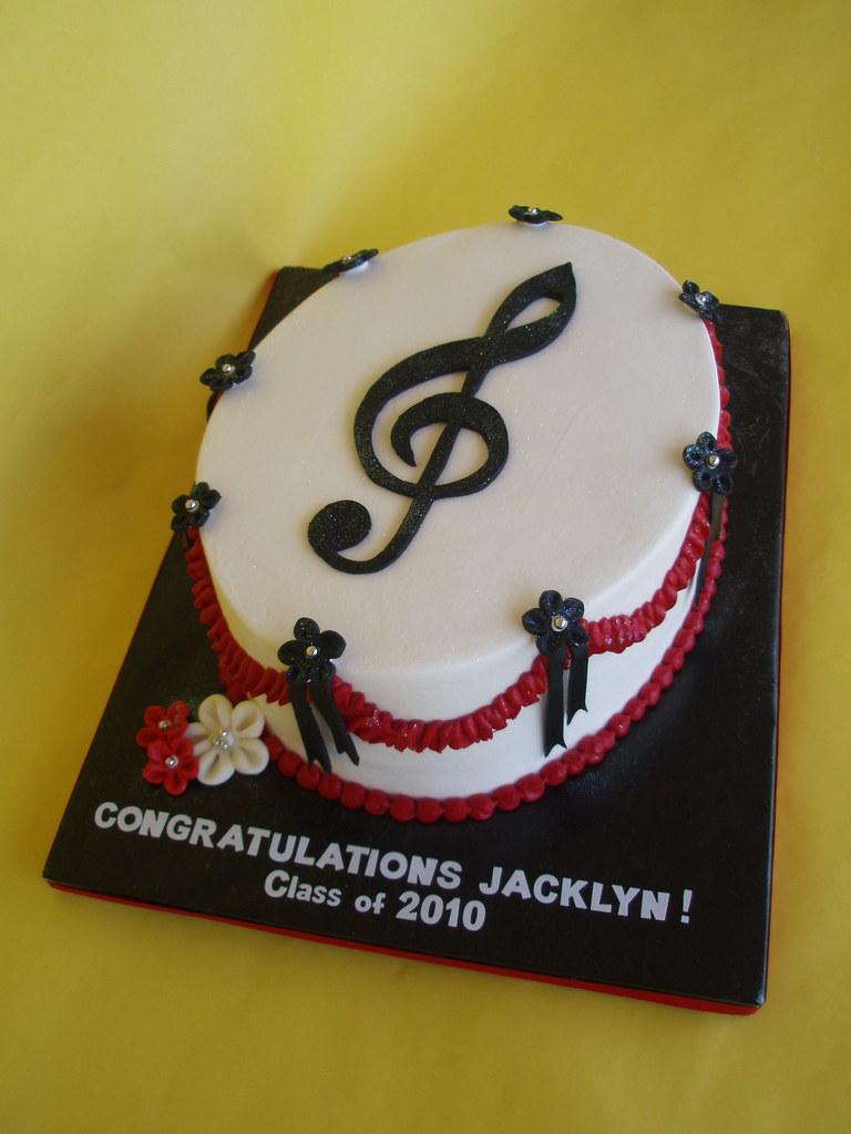 Cake Design Ideas Music : Musical Graduation Cake A graduation cake for a client ...