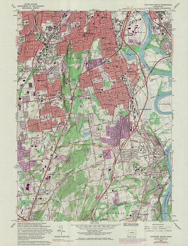 Hartford South Quadrangle 1976 - USGS Topographic Map 1:24,000 | by uconnlibrariesmagic